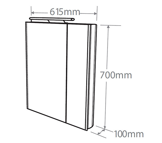 Technical drawing QS-V38491 / AS615ALSLP
