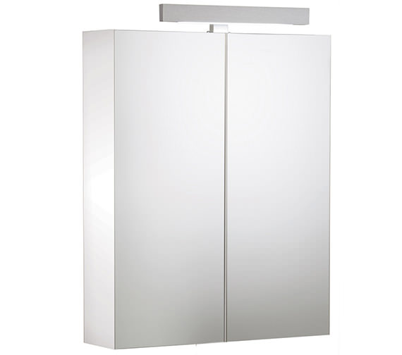 Roper Rhodes Signatures Double Mirror Door Cabinet White 600mm - SGC6W