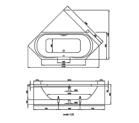 Technical drawing QS-V38523 / BETTE2470
