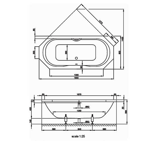 Technical drawing QS-V38525 / BETTE3300