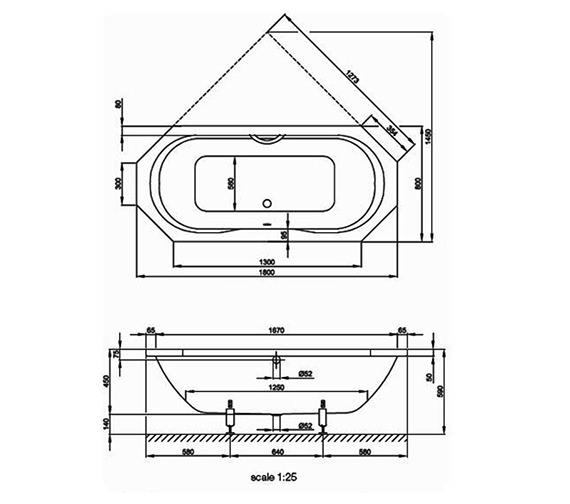 Technical drawing QS-V38525 / BETTE3300