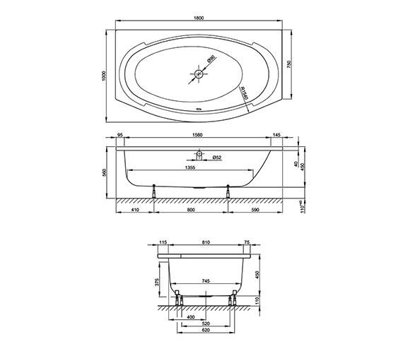 Technical drawing QS-V38528 / BETTE8999