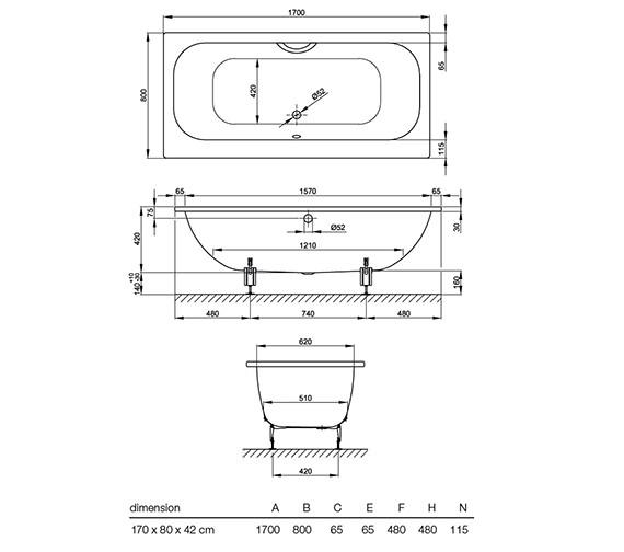 Technical drawing QS-V38532 / 3100 000