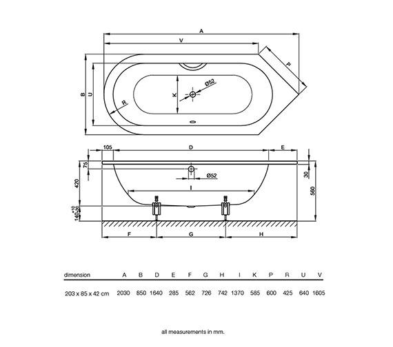 Technical drawing QS-V38534 / BETTE8380