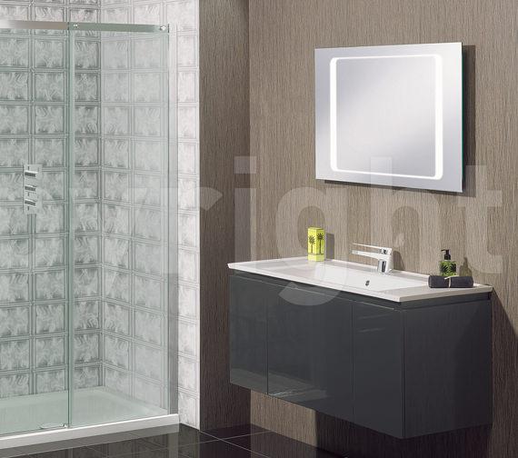 Alternate image of Bauhaus Linea Back Lit Mirror 600 x 1000mm