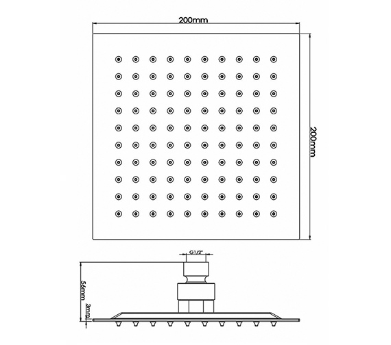 Technical drawing QS-V38615 / A3088