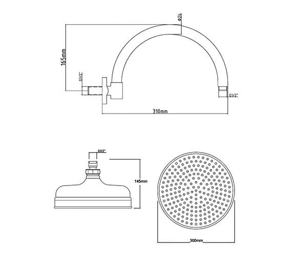 Technical drawing QS-V38627 / HEAD16