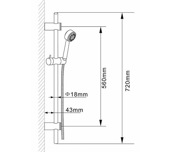 Technical drawing QS-V38641 / A3043