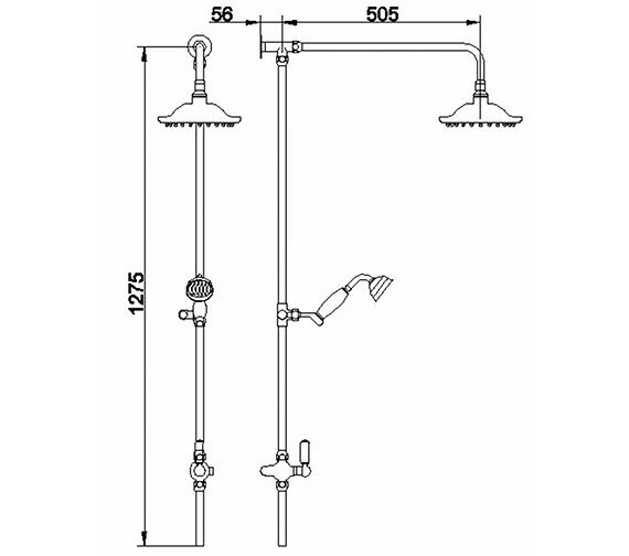 Technical drawing QS-V38650 / A3602