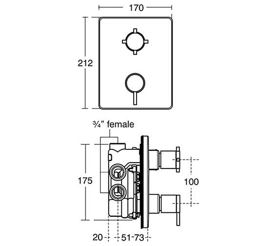 Technical drawing QS-V38669 / A3974AA