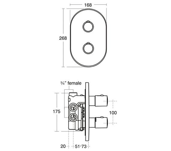 Technical drawing QS-V38670 / A3971AA