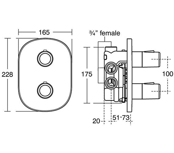 Technical drawing QS-V38680 / E6410AA