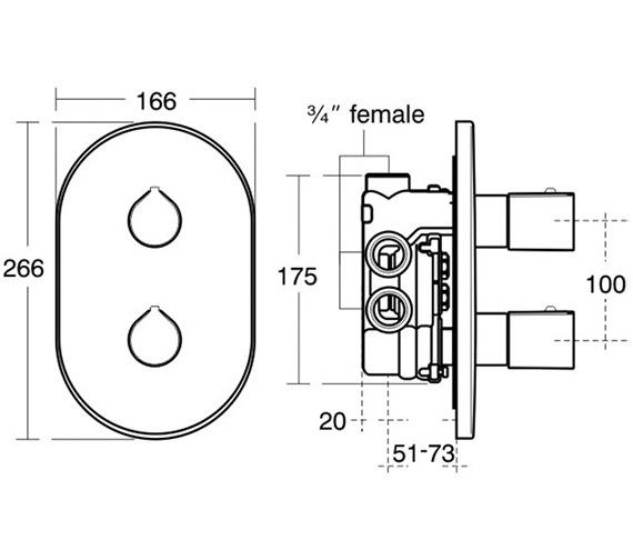 Technical drawing QS-V38682 / A4105AA