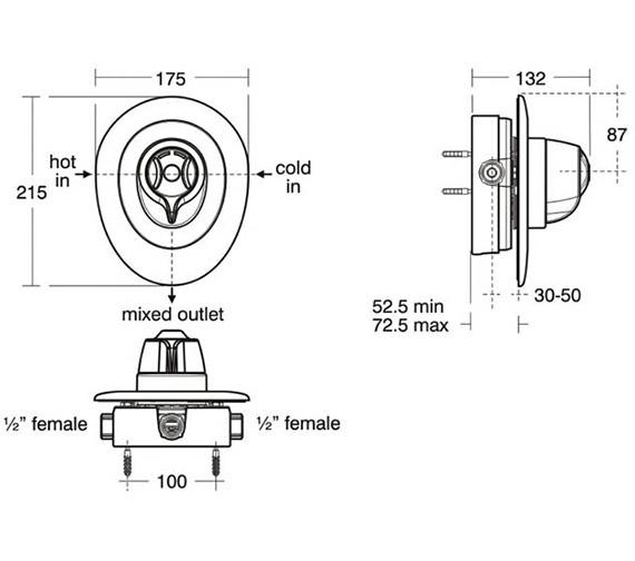 Technical drawing QS-V38690 / A3102AA