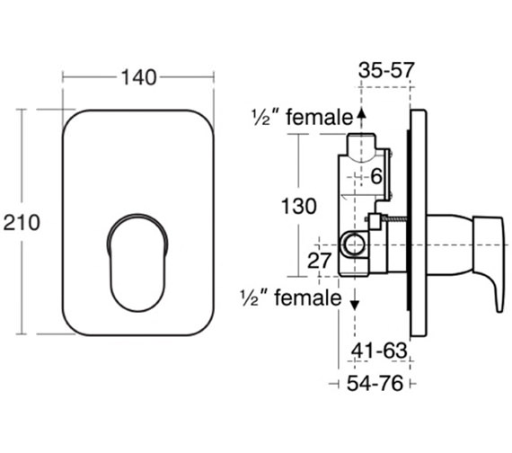 Technical drawing QS-V38698 / A3912AA