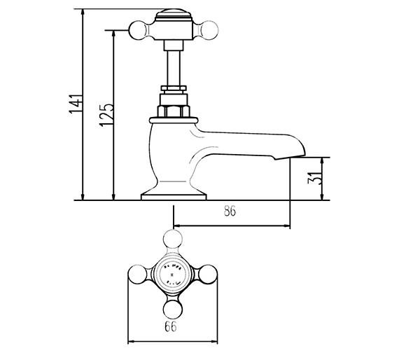 Technical drawing QS-V38740 / BC301
