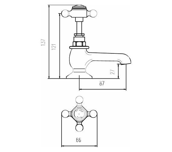 Technical drawing QS-V38743 / BC302HX