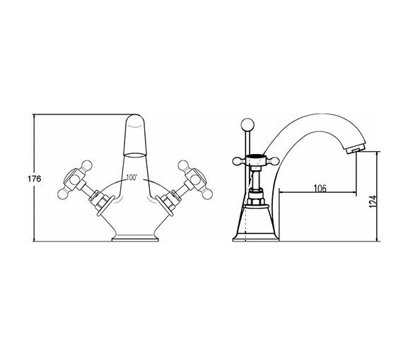 Technical drawing QS-V38746 / BC305HX