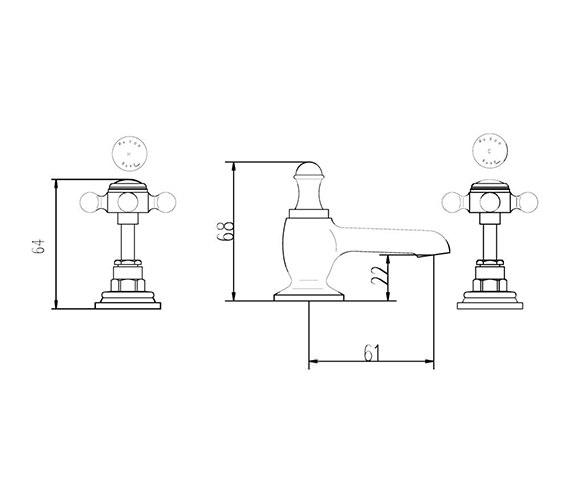 Technical drawing QS-V38747 / BC307HX