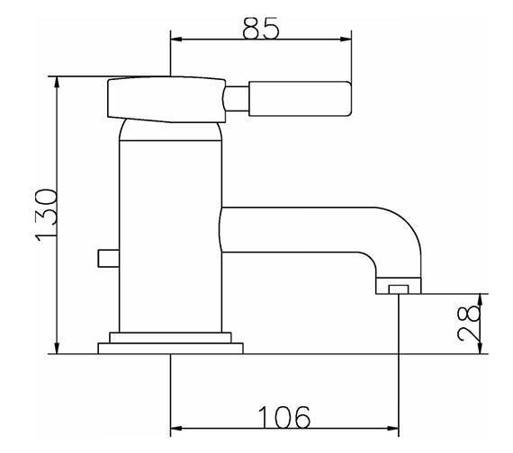 Technical drawing QS-V38758 / PN325