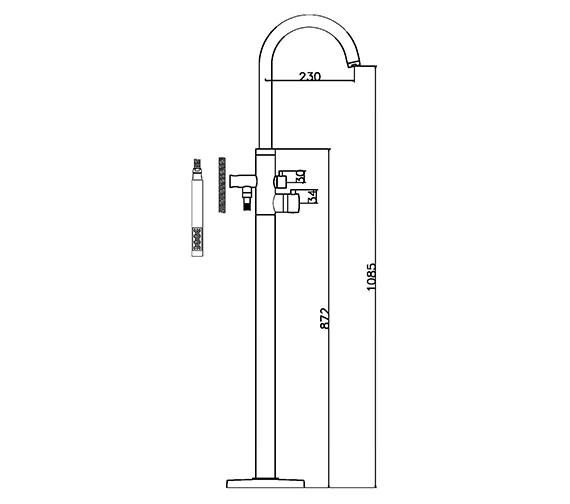 Technical drawing QS-V38762 / PN322