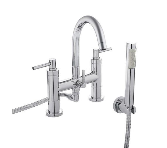 Hudson Reed Tec Lever Bath Shower Mixer Tap With Kit - TEL354