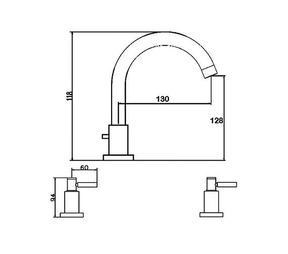 Technical drawing QS-V38770 / TEL337