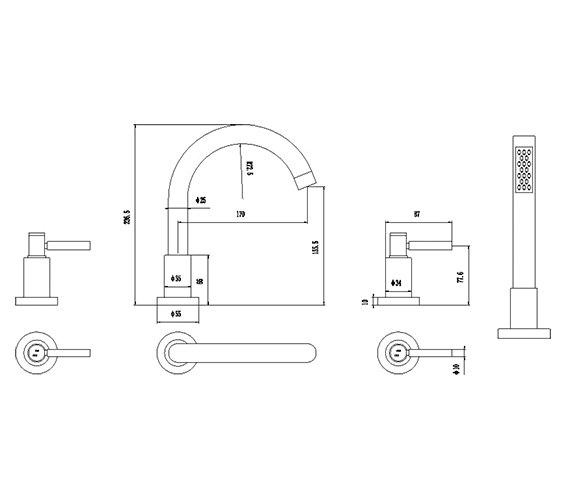 Technical drawing QS-V38772 / TEL334