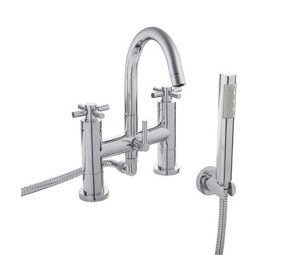 Hudson Reed Tec Crosshead Bath Shower Mixer Tap With Kit - TEX354