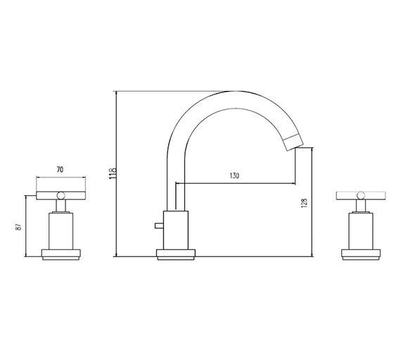 Technical drawing QS-V38789 / TEX337