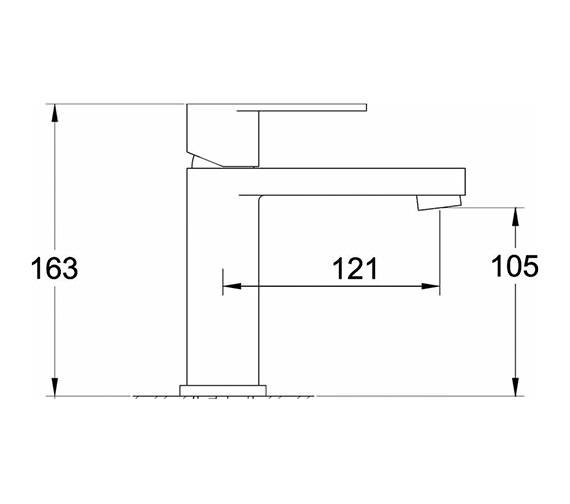 Technical drawing QS-V38806 / CLO305