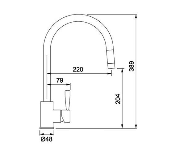 Technical drawing QS-V38828 / 115.0280.225
