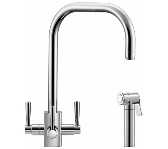 Franke FilterFlow Kubus Sink Tap With Hand Spray Chrome