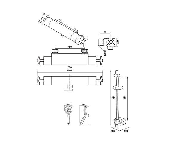 Technical drawing QS-V39021 / UNMETHBM