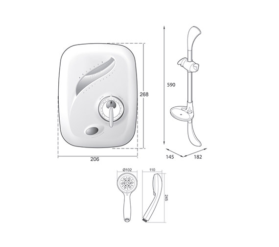 Technical drawing QS-V39022 / TAS2000XMAN