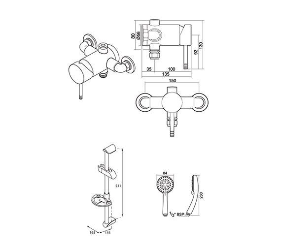 Technical drawing QS-V39025 / UNTHTHEXSL