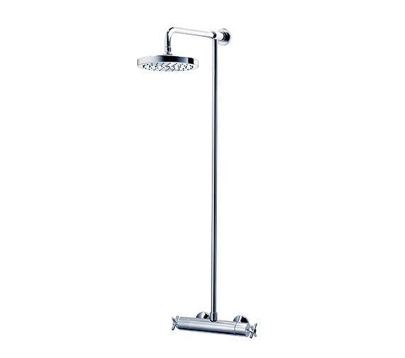 Triton Unichrome Mersey Thermostatic Shower With Fixed Head-UNMETHBMFH