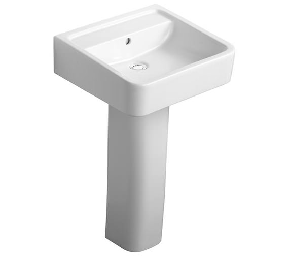 Ideal Standard Cube White Basin 500mm With Full Pedestal