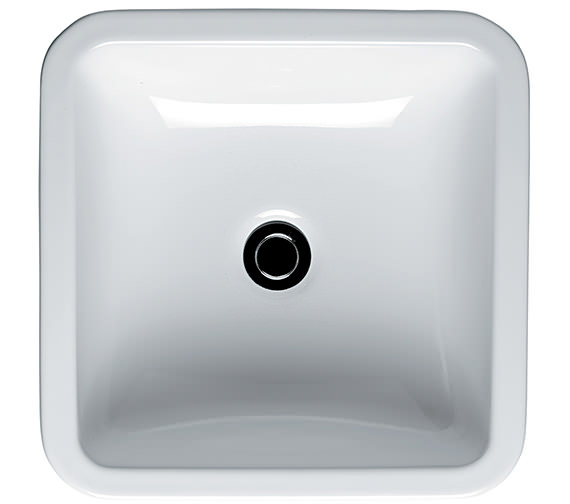Ideal Standard White Cube Vessel Basin 400mm Wide - E003601