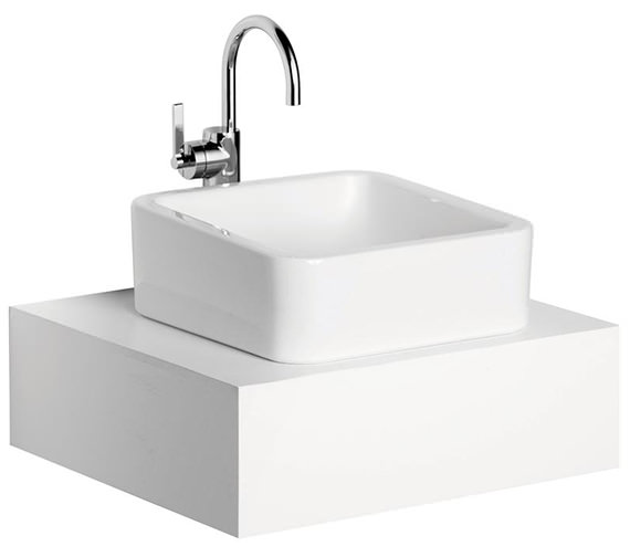 Additional image of Ideal Standard White Cube Vessel Basin 400mm Wide - E003601