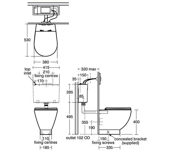 Technical drawing QS-V39086 / E000101