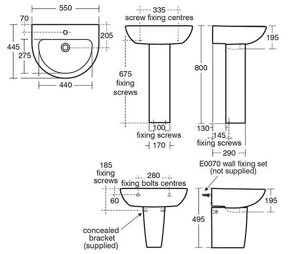 Technical drawing QS-V39128 / E304101