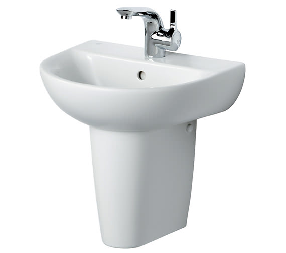 Ideal Standard Create Edge Handrinse Basin With Semi Pedestal