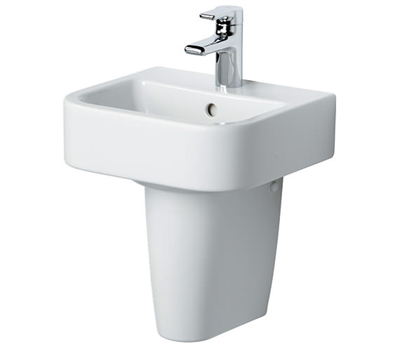 Ideal Standard Create Square 400mm Handrinse Basin With Pedestal