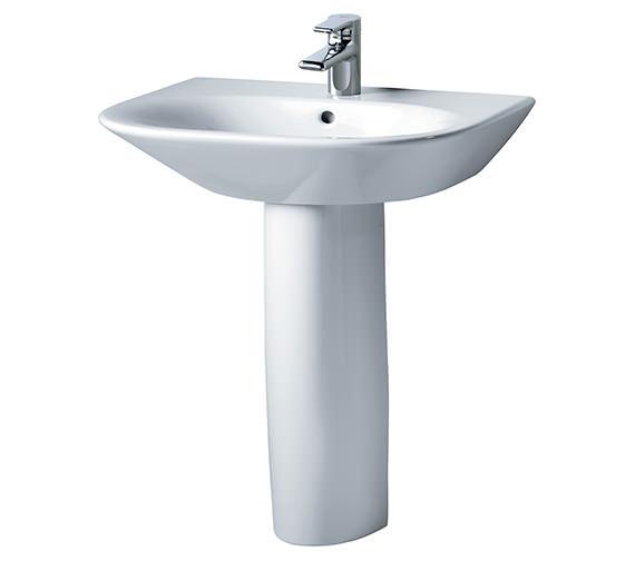 Ideal Standard Tonic 600mm Basin And Full Pedestal-K068801-R331101