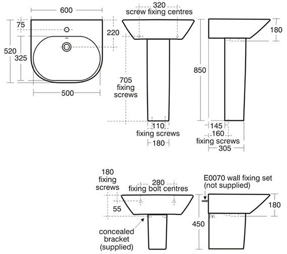 Technical drawing QS-V39155 / K068801