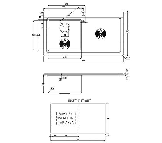 Technical drawing QS-V39188 / AW5019