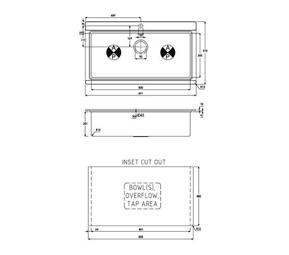 Technical drawing QS-V39189 / AW5021