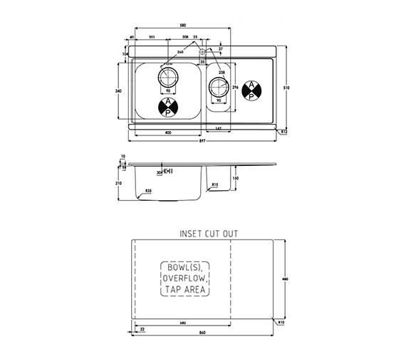 Technical drawing QS-V39192 / AW5035