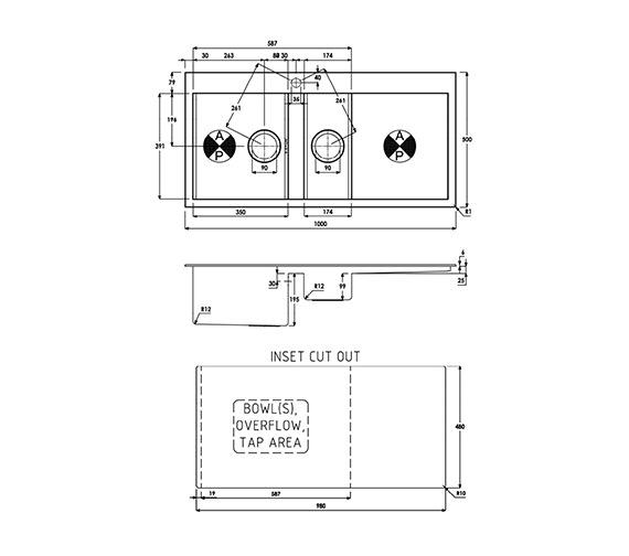 Technical drawing QS-V39194 / AW5025